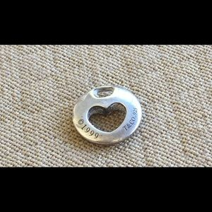 Tiffany & Co. Heart Pendant Charm Sterling 1999